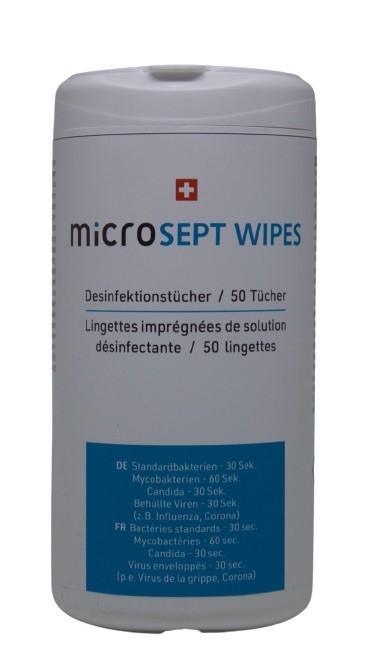 Microsept Desinfektionstücher für Oberflächendesinfektion